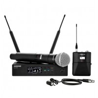 Shure QLXD124/85 QLX-D Series Single-Channel Digital Wireless Mic System With WL185 Lavalier And SM58 Handheld Combo